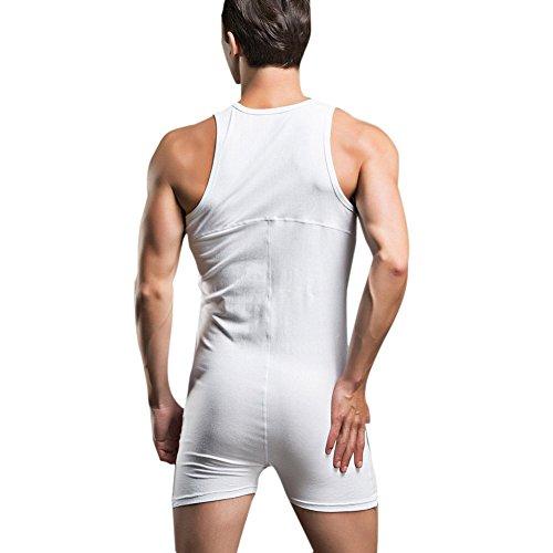 YiZYiF Herrenbody Männerbody Bodysuit Overall mit breiten Trägern und Langbein  Sportshirt Unterwäsche Unterhemd M-XL ...