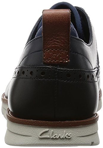 Clarks Trigen Limit, Derby homme Bleu (Navy Leather)