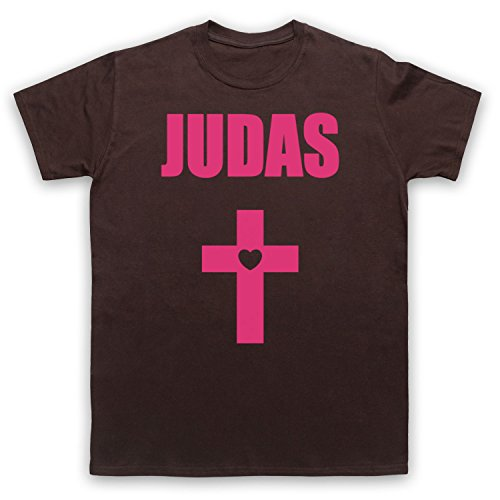 Inspiriert durch Lady Gaga Judas Cross Born This Way Unofficial Herren T-Shirt Braun