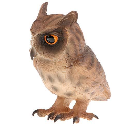 Non-brand Kunststoff Realistische Eule Vogel Modell Wildlife Dschungel Wald Ozean
