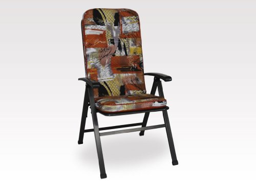 Angerer Stuhlauflage, Exklusiv Sesselpolster hoch Design New York, braun, 120x50x7 cm, 1024/172