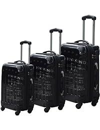 Lifetime Travel Juego de Maletas con Ruedas, 3 unidades, 184 Litros
