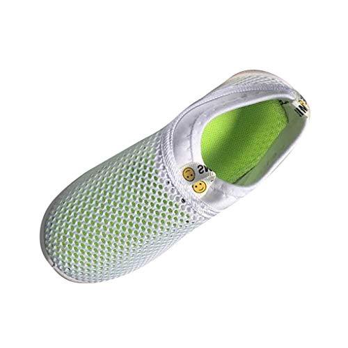 Dorical Unisex Babyschuhe Kinder Sommer Mesh Atmungsaktives Sportschuhe Jungen Mädchen Lauflernschuhe Freizeitschuhe Sneaker Krabbelschuhe mit Weiche Sohle Größe 21-38(Weiß-2,33 EU)