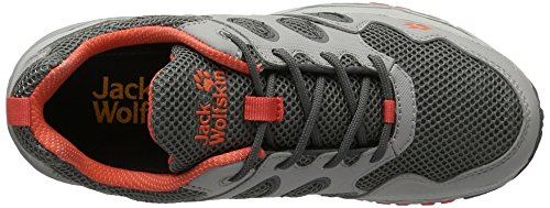 Jack Wolfskin Venture Fly Low W, Chaussures de Trail Femme Gris (Hot Coral)