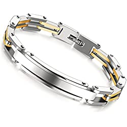 Yutii Cool Style Bracelet For Men And Boys with Gold and Silver Metal plated Stainless steel Man Chain