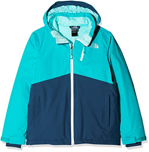 THE NORTH FACE Kinder Snowquest Plus Jacke, Kokomo Green, M (The North Face Mädchen Jacken)