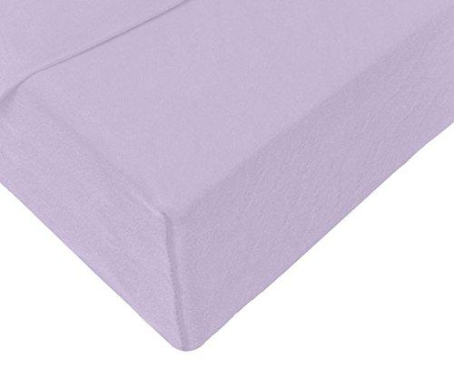 Double Jersey - Spannbettlaken 100% Baumwolle Jersey-Stretch bettlaken, Ultra Weich und Bügelfrei mit bis zu 30cm Stehghöhe, 140x200x30 Lavender - 4