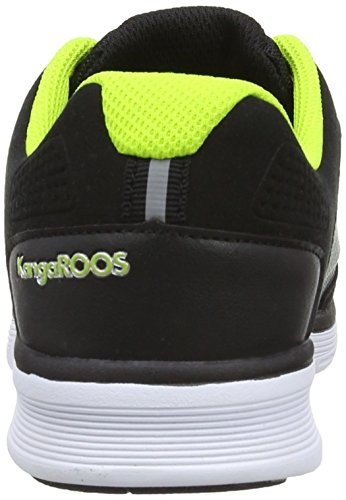 KangaROOS Bluelight 2002, Baskets mode mixte enfant Noir (Black/Lime 580)