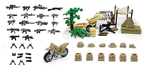 Magma Brick: Tarnungs-Zelte, Stacheldraht, Baum, M1919 Maschinengewehr,