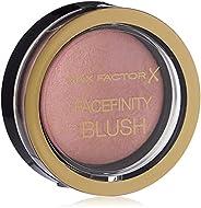 Max Factor Compact Blush Lovely Pink 5 – Marmorerat Rouge för perfekt glöd – flertonat puder rouge – färg rödr