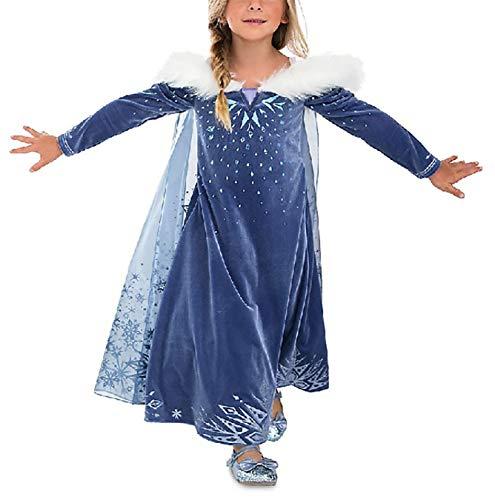 YOSICIL Vestido Elsa Capa Disfraz Princesa Invierno