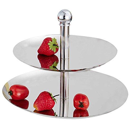 Piatto da portata in acciaio inossidabile supporto per frutta Candy Dessert Cupcake & Home matrimoni e feste, A