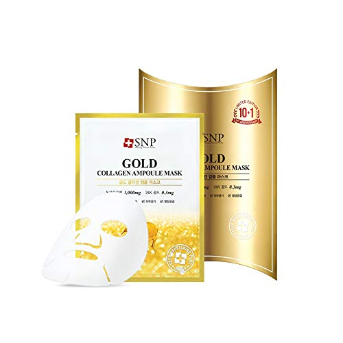 [SNP Cosmetic] Gold Collagen Ampoule Mask (10ea)