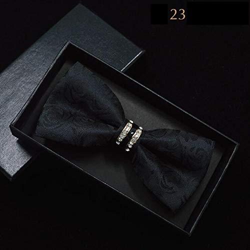 LLTYTE Männer Paisley Fliegen Metall Kristall Bowtie Rot Schwarz Floral Fliege Für Männer Frauen Business Hochzeit Zubehör Rote Paisley Bowties