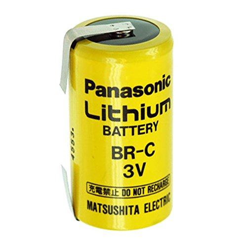 BR-C Panasonic Lithium Batterie Baby mit Lötfahne, 3,0 Volt