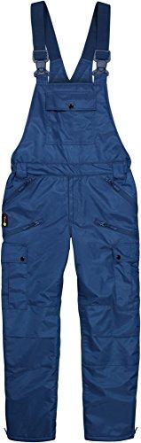 Winter Herren Thermo Latzhose, gefüttert, wind- und wasserdicht, 6 Reißverschlusstaschen Farbe Navy Größe XL