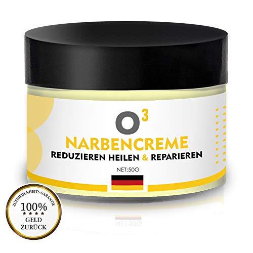 O³ Narbencreme - Narbensalbe // Stretch Marks Cream - Dehnungsstreifen Creme für Frauen nach Schwangerschaft - Aknenarben Hochwirksam - Scar Cream 100% natürlich