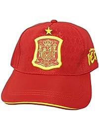 DRAPS Gorra Roja Adulto - Escudo Amarillo España y Estrella de Campeón ...