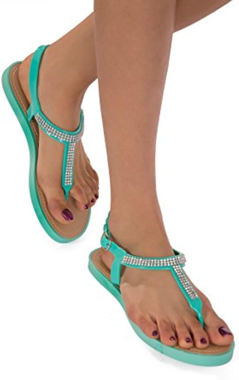 Frauen Mädchen Flach mit Jelly Sandalen Mädchen Frauen Sommer Flip Flops Strand Schuhe UK 3 4 5 6 7 8 34c56e