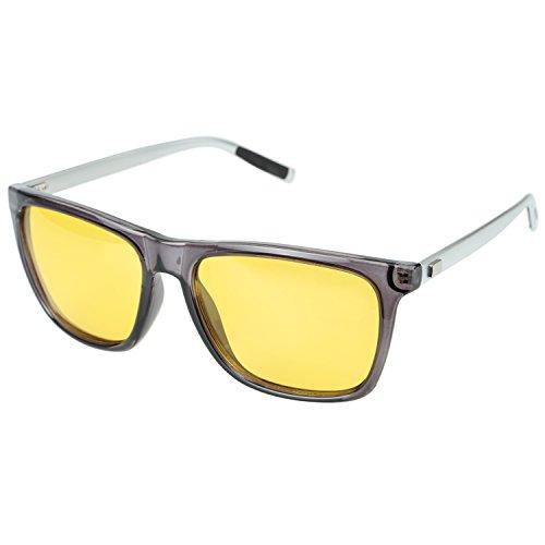 DUCO Nachtsicht Fahren Gläser Für Scheinwerfer Blendfreie Fahren Polarisierte Brillen 3029 (Grau)
