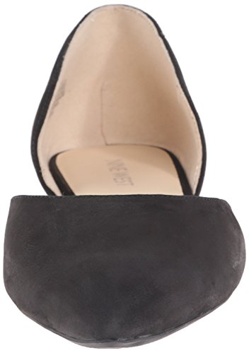 Nine West Starship Nubuck Ballet piatto Black nubuck