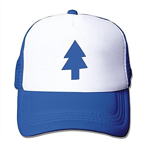 64ede9d7337 ZMvise Dipper Flat Hat Blue Pine Tree Printed Cute Baseball Cap Trucker  Mesh Hat