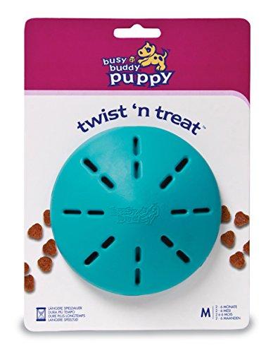 PetSafe Welpenspielzeug Snackball, Busy Buddy Twist 'n Treat  M, Hundespielzeug, gegen Übergewicht, interaktiv für mehr Fitness, für Trockenfutter und Leckerlies, spülmaschinenfest