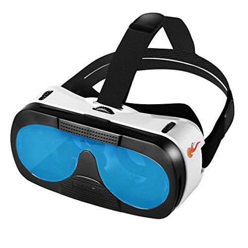 Vr Headset,LESHP Einstellbar Universal 3D VR Brille Blu ray Glasobjektiv Augenschutz Video Movie Game VR Karton Virtual Reality Box mit verstellbarem Kopfmontage Videobrillen Stirnband für iPhone Samsung und Andere 4,5-6.0 Zoll Smartphones