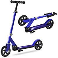 ENKEEO Kick Scooter, Big Wheel Stunt Scooter Faltbare Kickboard Roller 200mm mit intelligentes Bremssystem und Höhenverstellbarem Griff bis 80kg Kapazität für Kinder und Erwachsene