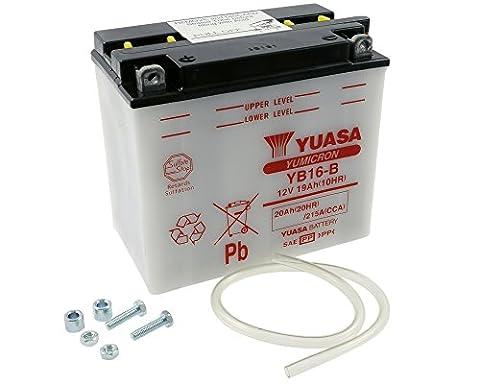 Batterie YUASA YB16-B pour HARLEY-DAVIDSON XL Series (Sportster) 1100 ccm année de construction 87-93