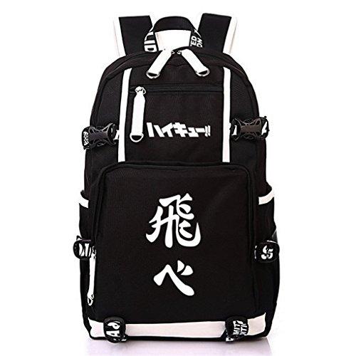 Siawasey Anime Haikyuu Cosplay Rucksack Daypack Bookbag Laptop Schultasche, 5, Large