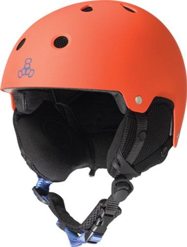 Die Sales Pull Partnerschaft Triple 8Brainsaver Schnee Audio Helm (S/M, Orange) -