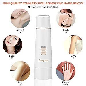 Lady Shaver, 4 in 1 Rechargeable Electric Lady Razor Women Shaver Wet and Dry Cordless Waterproof Portable Painless in Shower for Arm, Underarm, Legs, Hair Remover