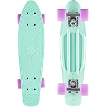 STAR-SKATEBOARDS® Vintage Cruiser Board ★ 22s Diamond Class Edition ★ Creamy Turquoise & Candy Purple