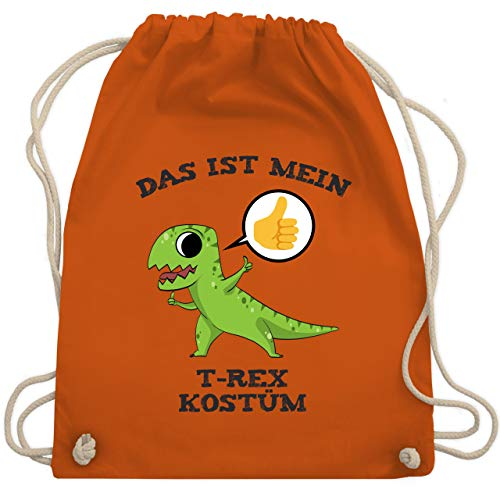 Karneval & Fasching - Das ist mein T-Rex Kostüm Comic - Unisize - Orange - WM110 - Turnbeutel & Gym Bag