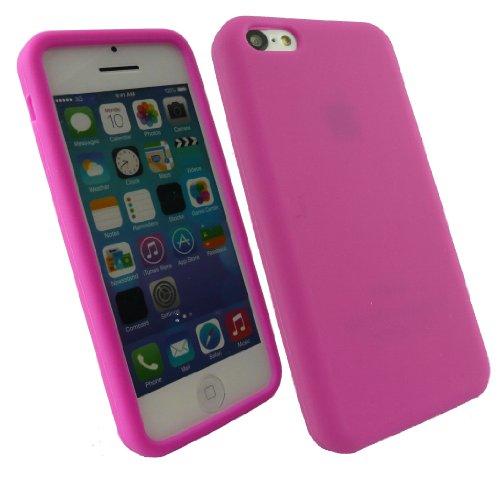 Emartbuy® Apple Iphone 5c Protecteur D'Écran Lcd Et Silicon Skin Cover / Étui / Housse Rose