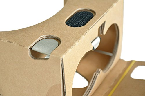 Durovis Dive Cardboard 6 - braun - Virtual Reality Headset inspired by Google Cardboard V2 - für 3D-Games, Filme, Videos, Apps aus Play- und iTunes-Store - für Android & iOS Smartphones bis zu 6 Zoll