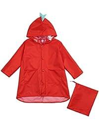 QinMM Chubasquero Poncho Impermeable para Niño Niña Bebé con Capucha Cartoon Dinosaurios Ropa de Nieve y Lluvia