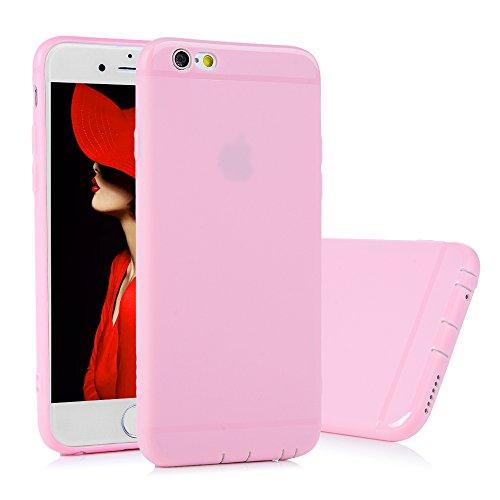 KASOS Coque iPhone 6 Plus 6S Plus, Coque Housse Case Bumper Étui Coque de Protection en TPU Silicone Souple Ultra Hybrid Ultra Slim Mince Léger Ajustement Parfait Antichoc Housse iPhone 6 Plus 6S Plus Rose
