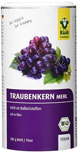 Raab Vitalfood Bio Traubenkernmehl 300 g, OPC, reich an Ballaststoffen, vegan, glutenfrei,...