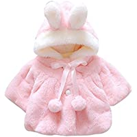 Kingko 0~24 Month Baby Girls Infant Cotton Winter Warm Coat Cloak Jacket Thick Warm Clothes