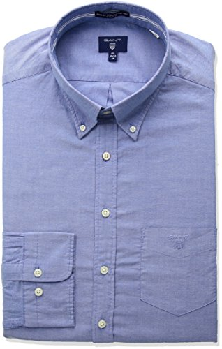 Gant Button Down Hemd Unifarben Rosa(637)