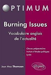 Burning Issues Vocabulaire Anglais de l'Actualité