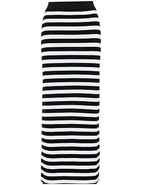 Para mujer Plain gitana larga Jersey elástico Maxi vestido falda mujer falda talla 8–14