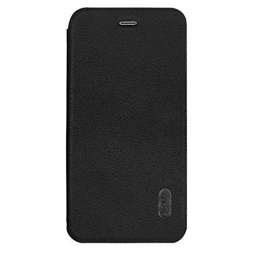 iPhone 8 Plus Hülle - Vollständiger Schutz Soft Basis Folio Flip Schutzhülle Leder Cover Tasche mit Kartenfach für iPhone 8 Plus - Schwarz Schwarz