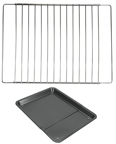 Unbekannt Ofengitter 33 bis 61 cm Backofengitter verstellbar Backofenrost + Backblech verstellbar Backofenblech Setangebot