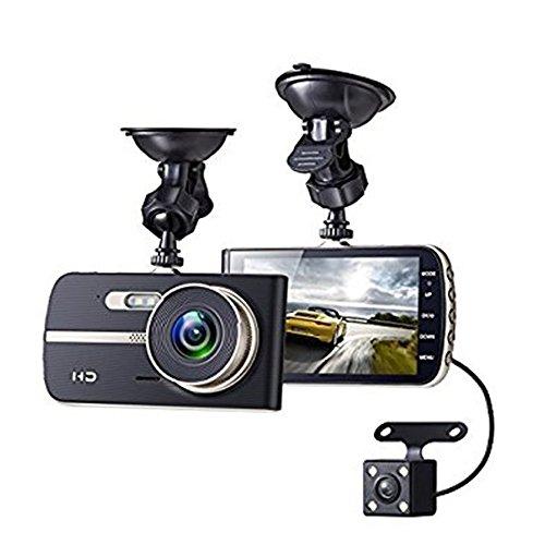 Sicherheit für Auto, Auto Dash Cam, 290Grad, 1080p Full HD 4.0LCD DVR Video IR Nachtsicht Objektiv, G-Sensor, Registrierung in Loop, Monitor-Parkhaus, Bewegungsmelder X400Schwarz (Video-registrierung)