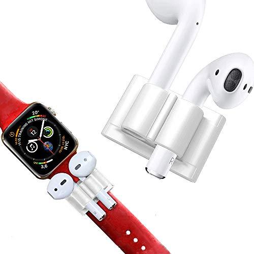 Halterung für AirPods & Apple Watch Armband by DnA Tech®   Geschmeidiges Silikon - Anti-Lost-Holder   Ideal beim Sport oder in der Freizeit