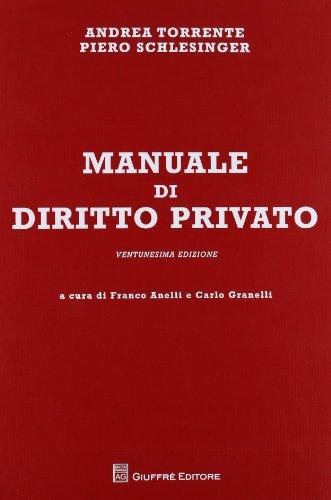 Manuale di diritto privato -Ventunesima edizione