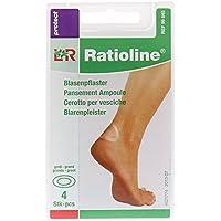Ratioline Protect Blasenpflaster 4,2x7 cm Groß, 4 St preisvergleich bei billige-tabletten.eu